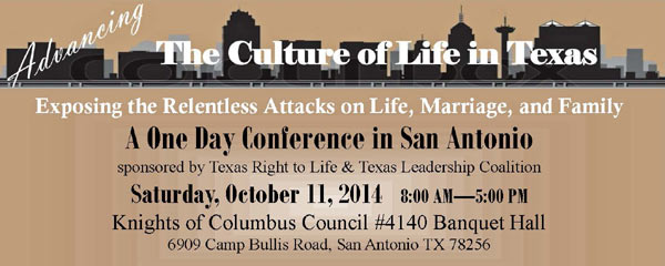 October right to life conference banner